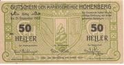 50 Heller (Hohenberg) -  obverse