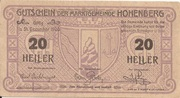 20 Heller (Hohenberg) – obverse