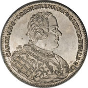 1 Thaler - Karl August (Death of Friedrich Eberhard) – obverse