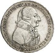 10 Kreuzer - Ludwig Friedrich Karl (Birthday; Silver Ducat Pattern) – obverse