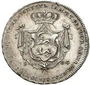 10 Kreuzer - Ludwig Friedrich Karl (Birthday; Silver Ducat Pattern) – reverse