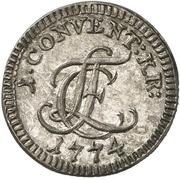 2-½ Konventionskreuzer - Ludwig Friedrich Karl – obverse