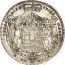 1 Conventionsthaler - Ludwig Friedrich Karl – reverse