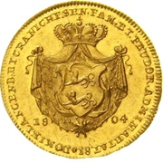 1 Ducat - Ludwig Friedrich Karl (Birthday) – reverse