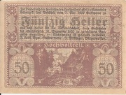 50 Heller (Hohenzell) -  reverse