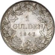 1 Gulden - Friedrich Wilhelm Constantin – reverse