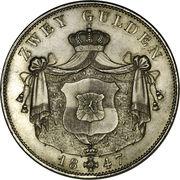 2 Gulden - Friedrich Wilhelm Konstantin – reverse