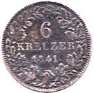 6 Kreuzer - Friedrich Wilhelm Constantin – reverse