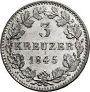 3 Kreuzer - Friedrich Wilhelm Constantin – reverse