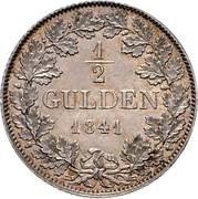 ½ Gulden - Friedrich Wilhelm Constantin – reverse