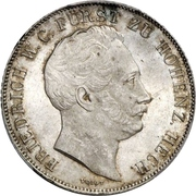 1 Gulden - Friedrich Wilhelm Constantin – obverse