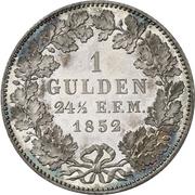 1 Gulden - Friedrich Wilhelm IV – reverse