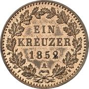 1 Kreuzer - Friedrich Wilhelm IV – reverse