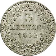 3 Kreuzer - Friedrich Wilhelm IV – reverse
