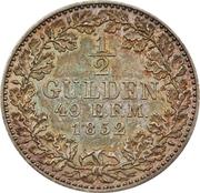 ½ Gulden - Friedrich Wilhelm IV – reverse