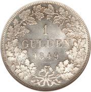 1 Gulden - Karl Anton – reverse