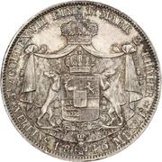 2 Thaler / 3½ Gulden - Karl – reverse