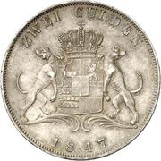 2 Gulden - Carl – reverse