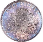 2 Gulden - Karl Anton – reverse