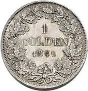 1 Gulden - Carl (Piedfort) – reverse