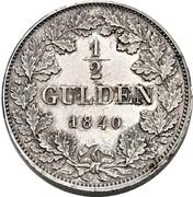 ½ Gulden - Carl Anton (Piedfort) – reverse