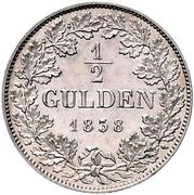 ½ Gulden - Carl Anton – reverse