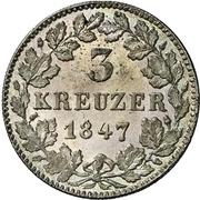 3 Kreuzer - Carl – reverse