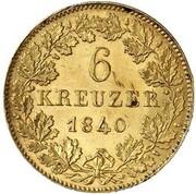 6 Kreuzer - Karl (Gold Pattern) – reverse