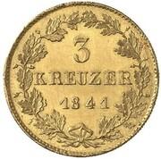 3 Kreuzer - Karl (Gold Pattern) – reverse