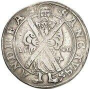 1 Thaler - Ernst V (St. Andreas Ausbeute) – reverse