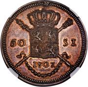 50 Stuivers - Louis Napoleon (Pattern) – reverse