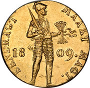 1 Ducat- Louis Napoleon (Trade Coinage) – reverse