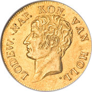 1 Dukaat - Louis Napoleon (Trade Coinage) – obverse