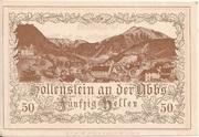 50 Heller (Hollenstein) – obverse