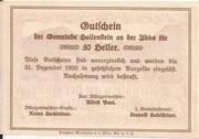 50 Heller (Hollenstein) – reverse