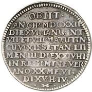 ½ Thaler - Ernst III. (Death) – reverse