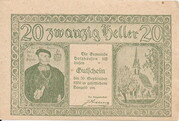 20 Heller (Holzhausen) – obverse