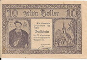 10 Heller (Holzhausen) -  obverse