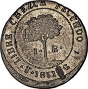 1 Real (State of Honduras - Provisional) – reverse