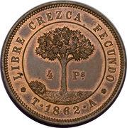 4 Pesos (Pattern strike) – reverse