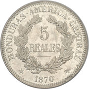 5 Reales (Pattern strike) – reverse