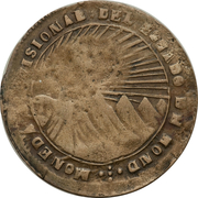 8 Reales (State of Honduras - Provisional) – obverse
