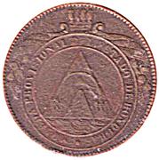 4 Pesos (Provisional Coinage) – obverse