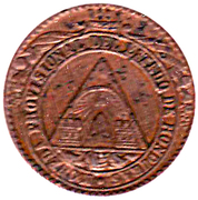 1 Peso (Provisional Coinage) – obverse