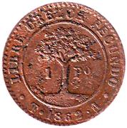 1 Peso (Provisional Coinage) – reverse