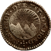 ½ Real (State of Honduras - Provisional) – obverse