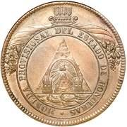 8 Pesos (Provisional Coinage) – obverse