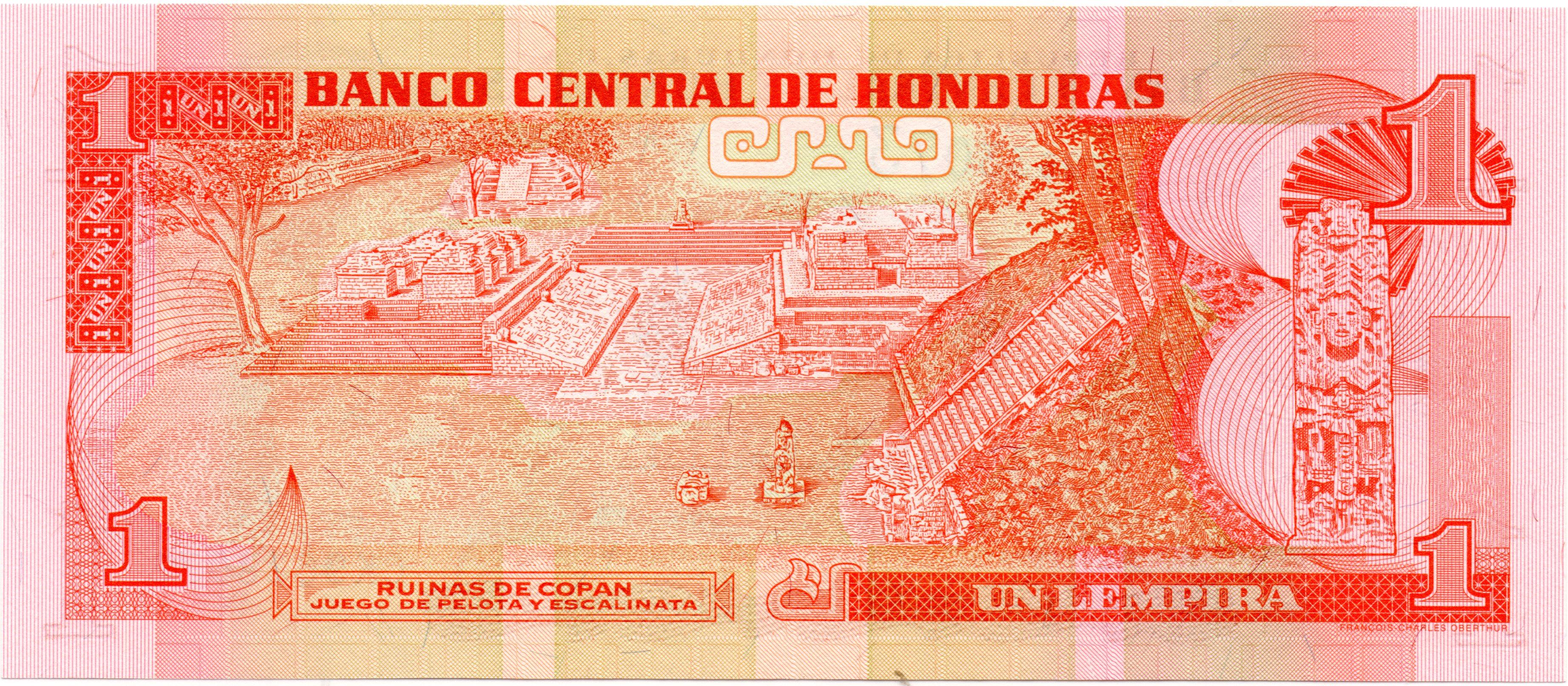 HONDURAS 1 LEMPIRA 2004 P 84 UNC
