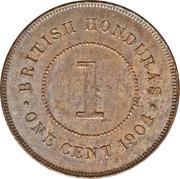 1 Cent - Edward VII – reverse