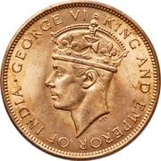 1 Cent - George VI -  obverse